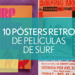 poster retro de peliculas de surf