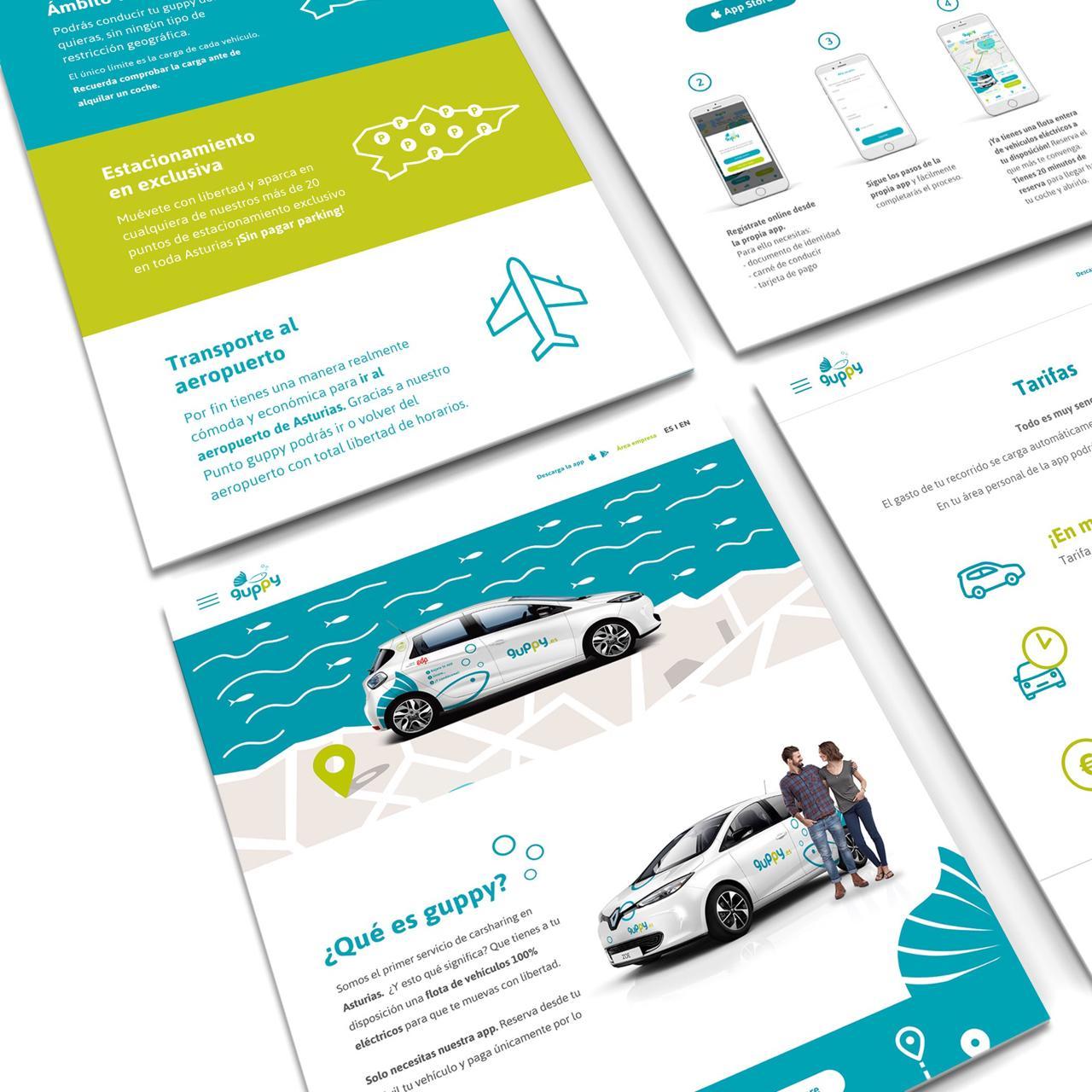Guppy Carsharing diseño web