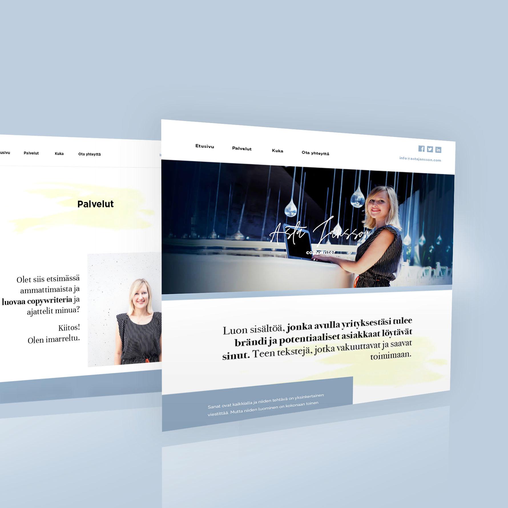diseño web copywriter